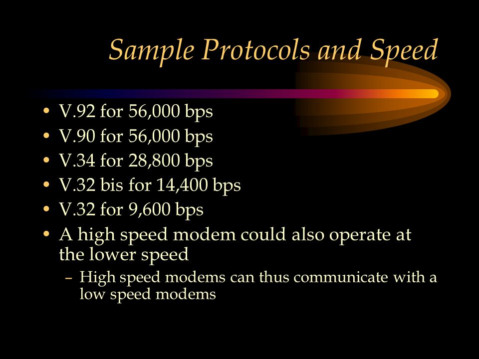 Sample Protocols and Speed