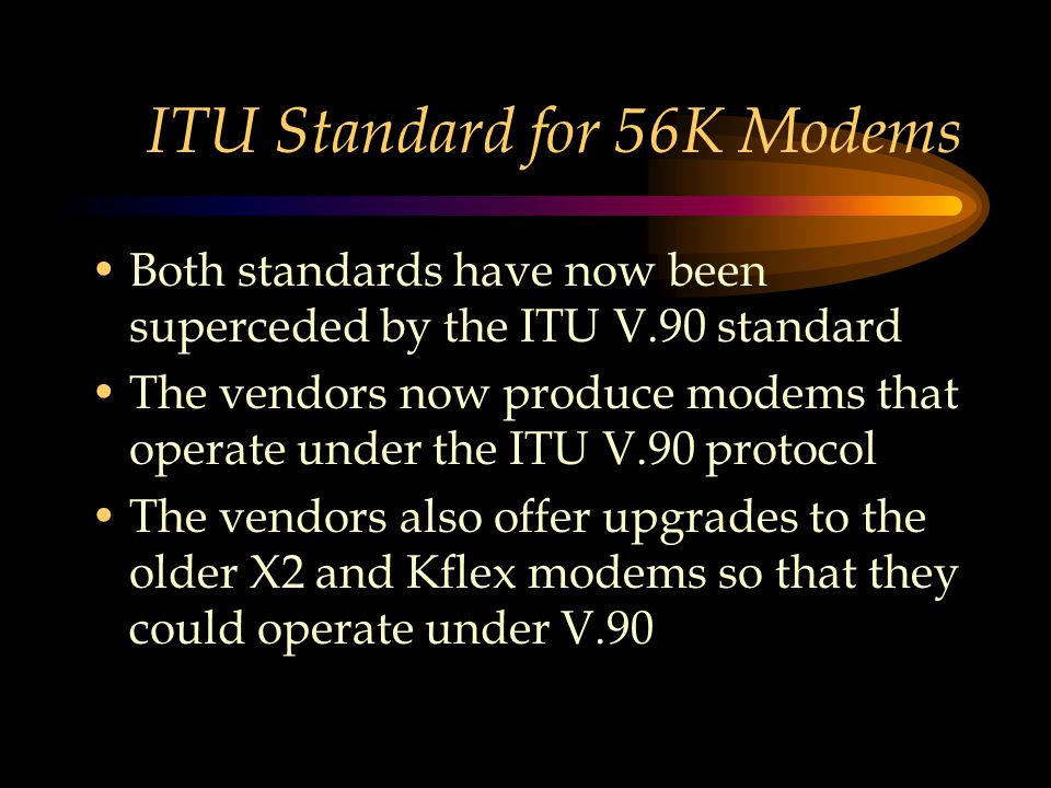 ITU Standard for 56K Modems