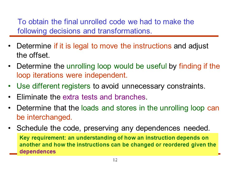Use different registers to avoid unnecessary constraints.