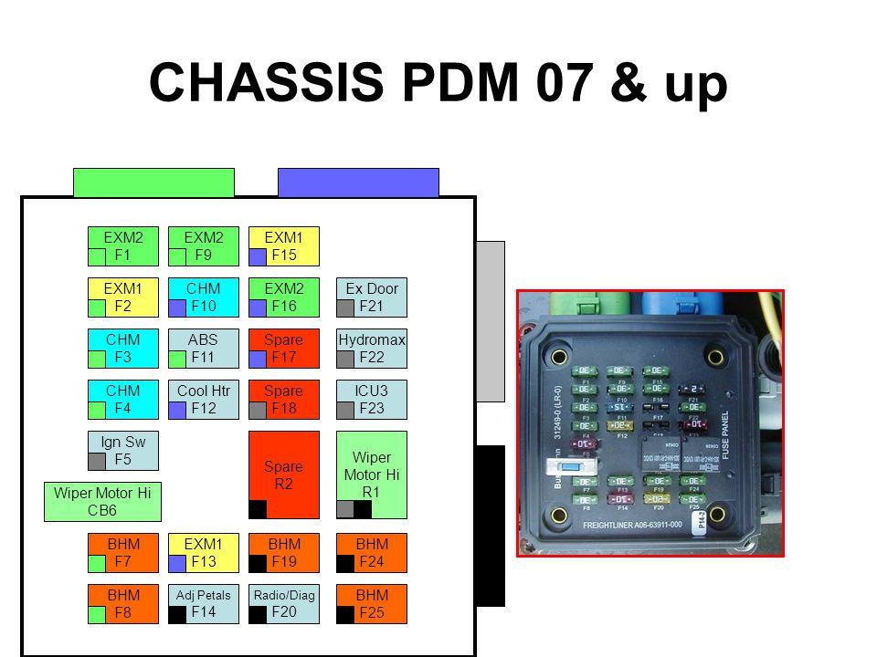 CHASSIS PDM 07 & up EXM2 F1 F9 EXM1 F15 F16 F2 CHM F3 F4 Ign Sw F5 BHM