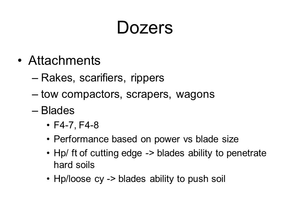 Dozers Attachments Rakes, scarifiers, rippers