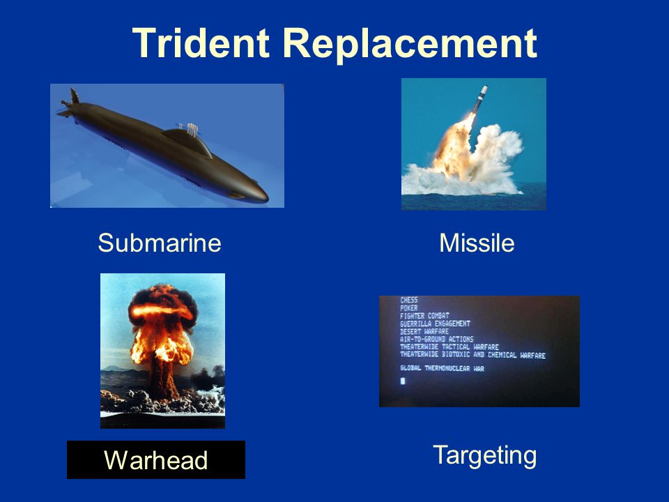 Trident Replacement Submarine Missile Targeting Warhead