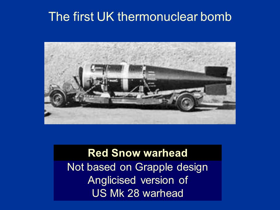 The first UK thermonuclear bomb