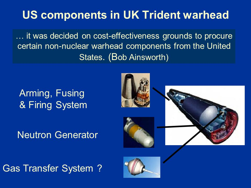 US components in UK Trident warhead