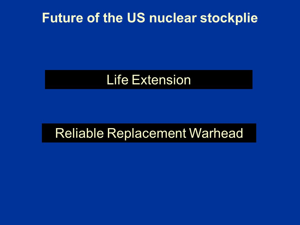 Future of the US nuclear stockplie