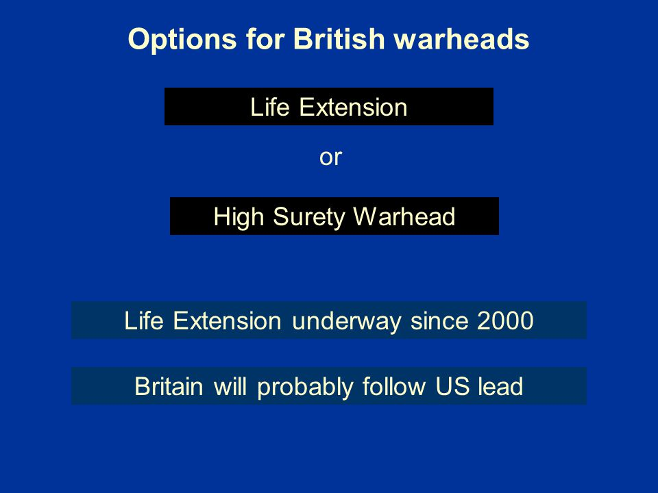 Options for British warheads