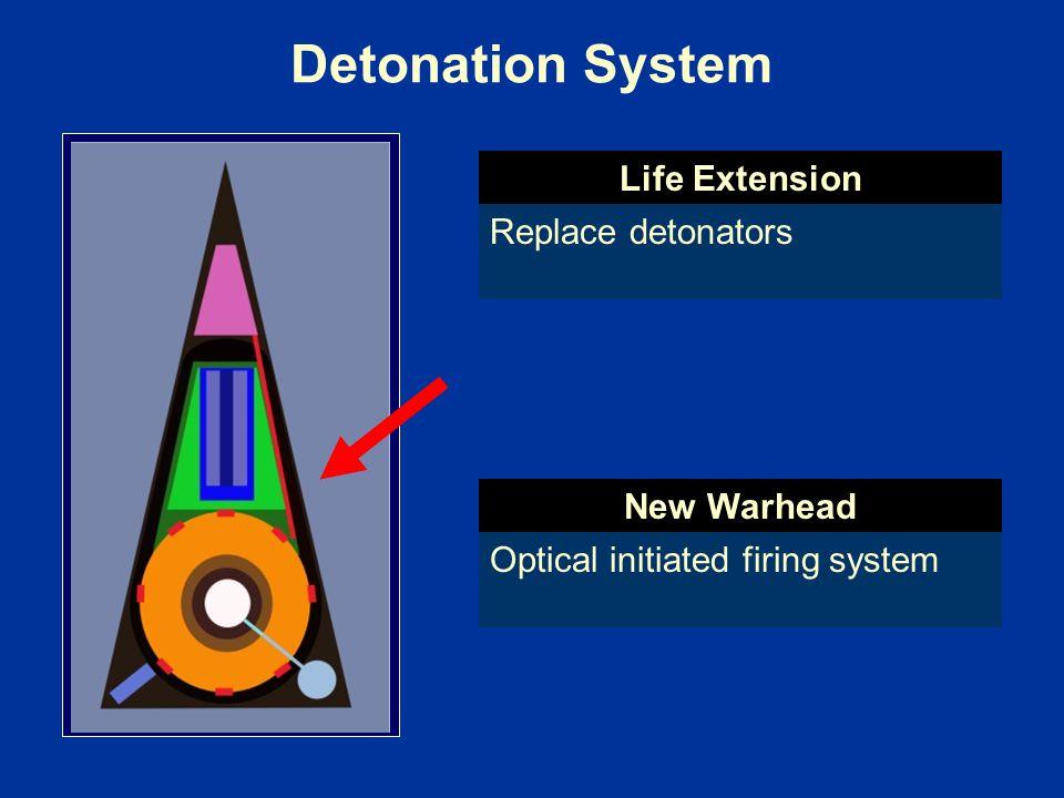Detonation System Life Extension Replace detonators New Warhead