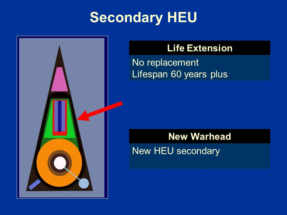 Secondary HEU Life Extension No replacement Lifespan 60 years plus