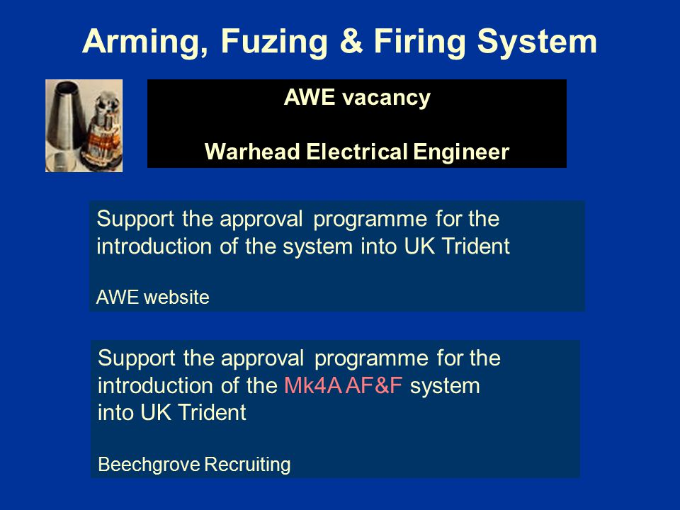 Arming, Fuzing & Firing System