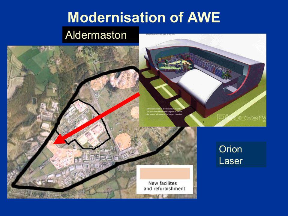 Modernisation of AWE Aldermaston Orion Laser