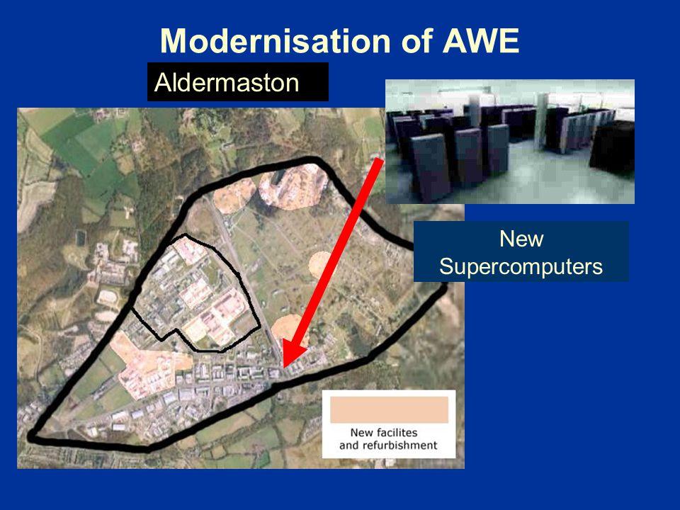 Modernisation of AWE Aldermaston New Supercomputers