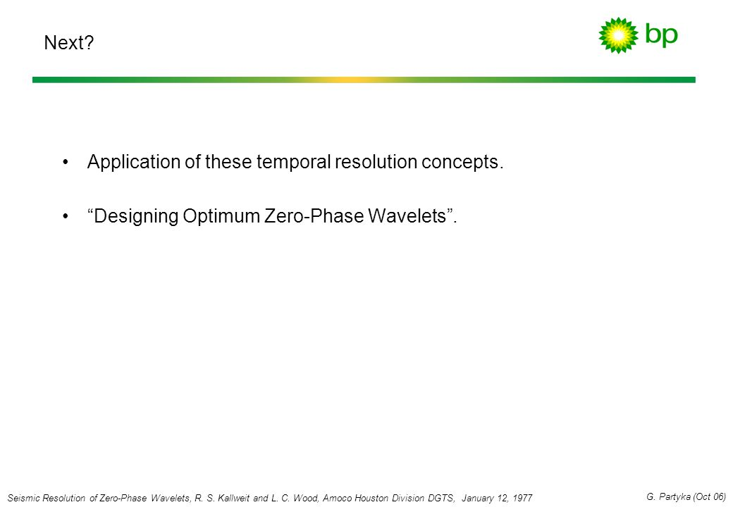 Application of these temporal resolution concepts.