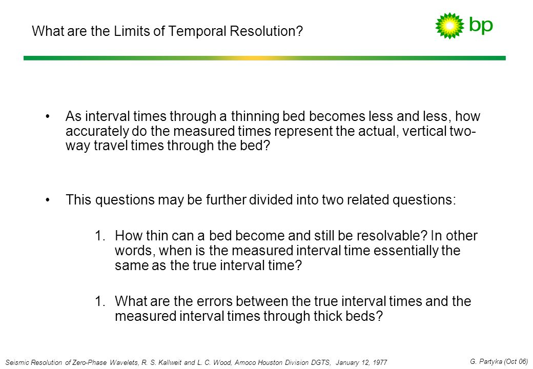 What are the Limits of Temporal Resolution