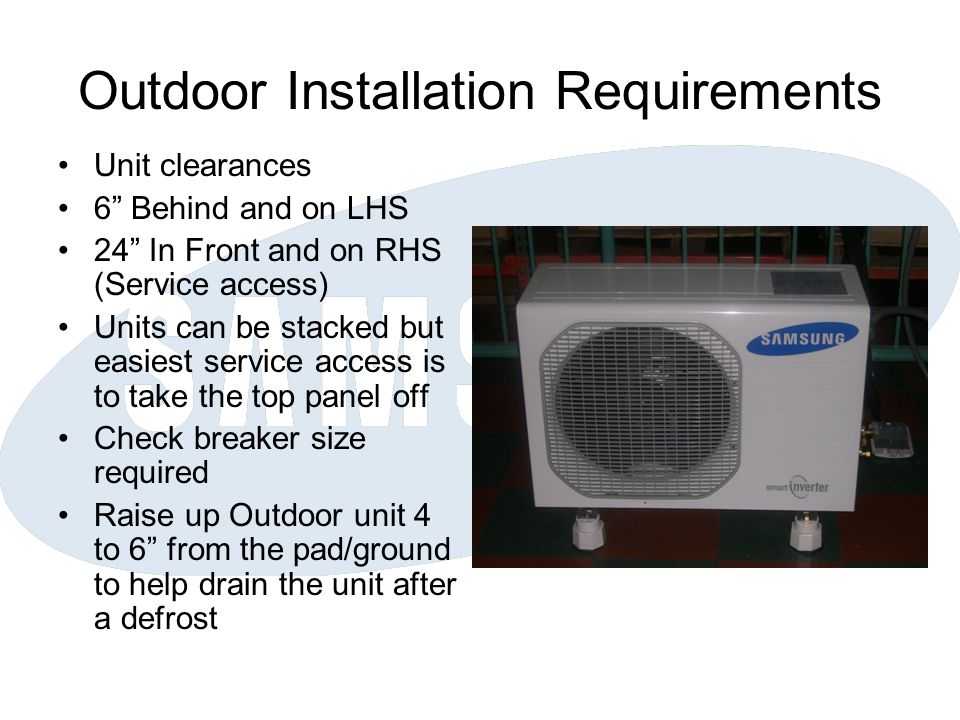 Outdoor Installation Requirements