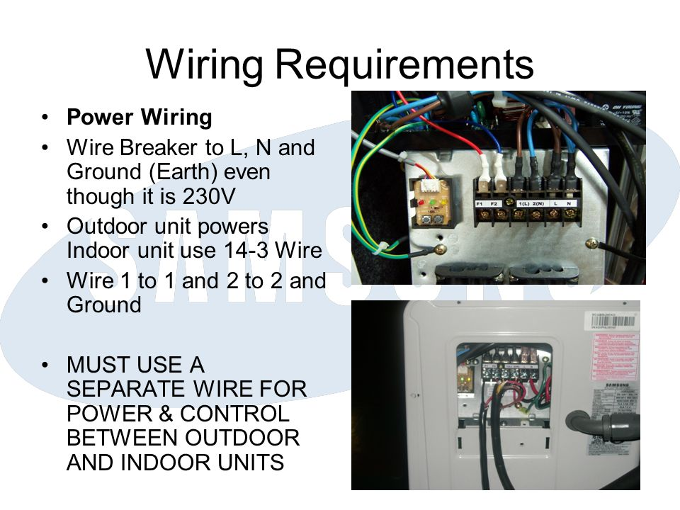 Wiring Requirements Power Wiring
