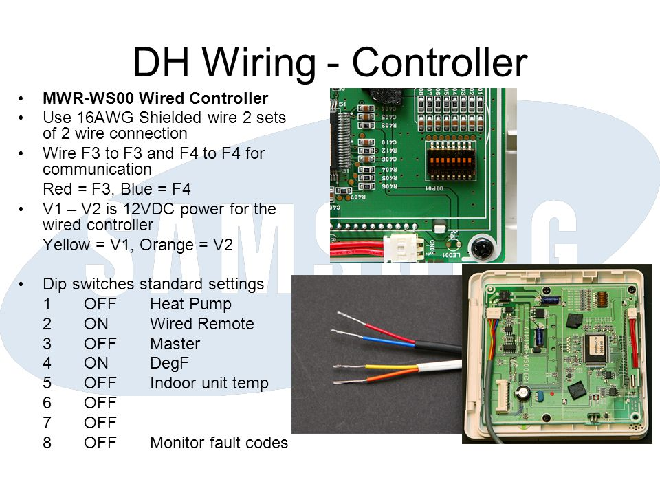 DH Wiring - Controller MWR-WS00 Wired Controller
