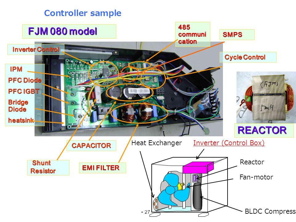 FJM 080 model REACTOR Controller sample 485 communication SMPS
