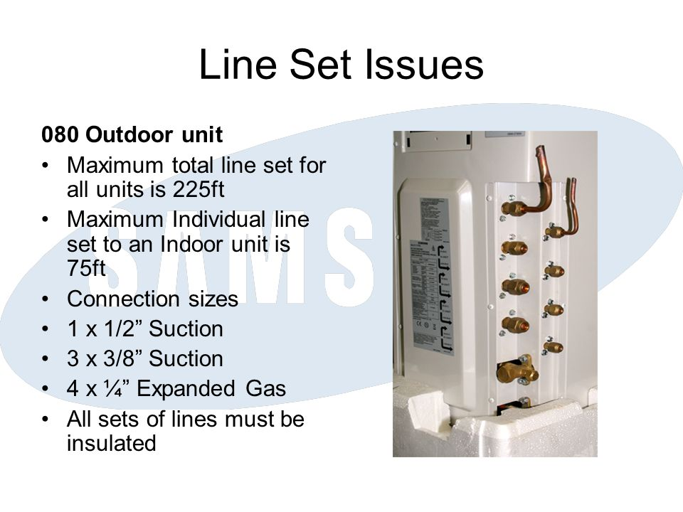 Line Set Issues 080 Outdoor unit