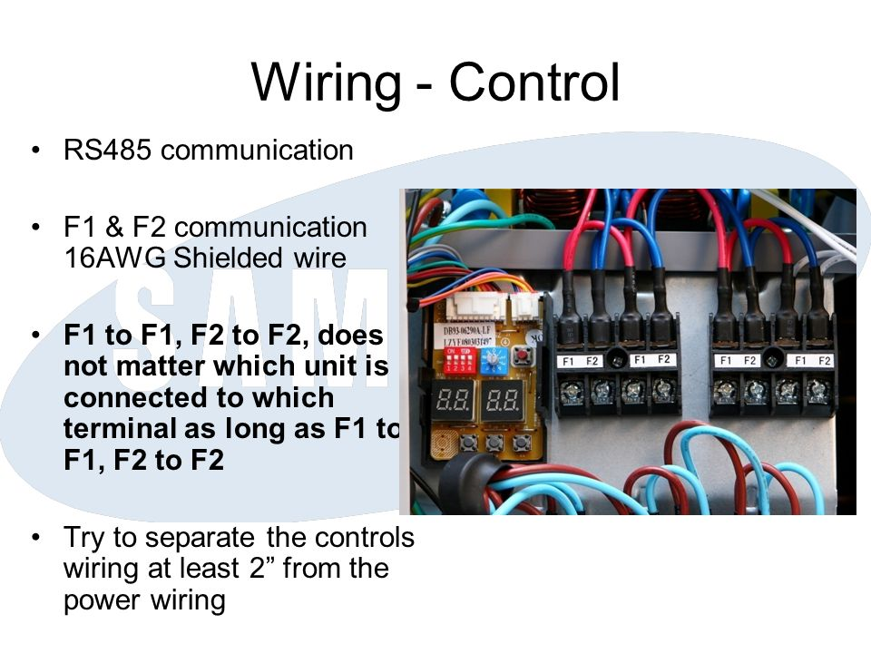 Wiring - Control RS485 communication
