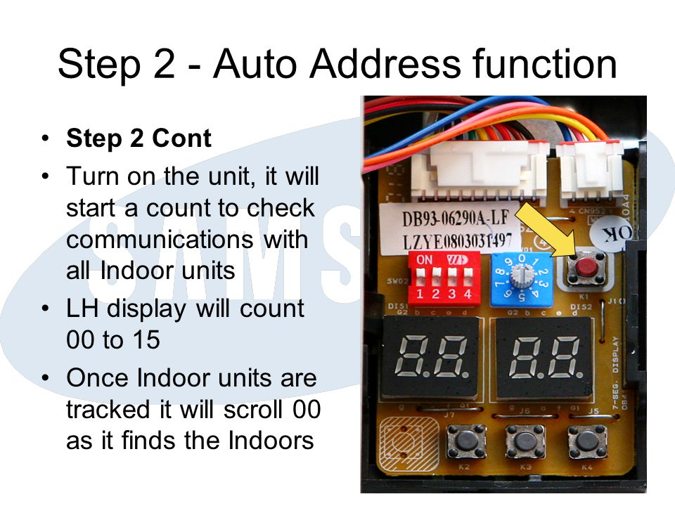 Step 2 - Auto Address function