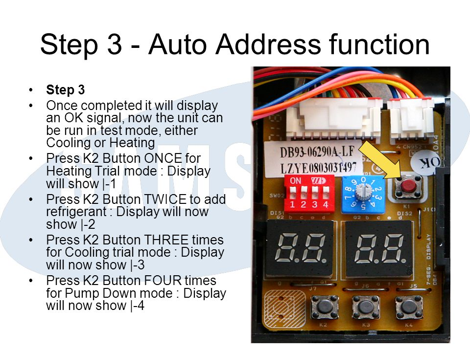 Step 3 - Auto Address function