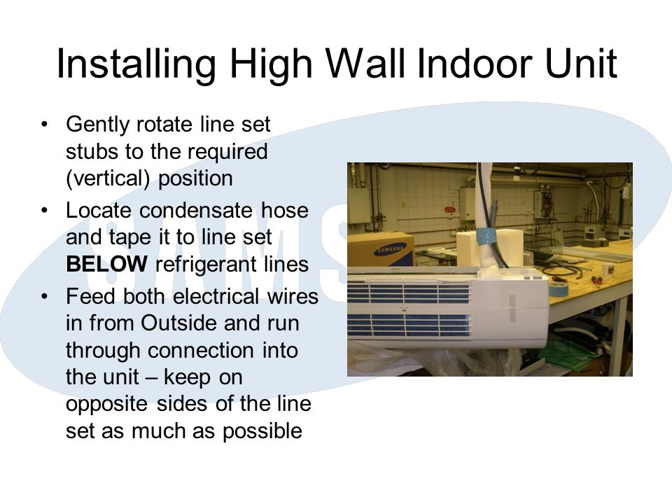 Installing High Wall Indoor Unit