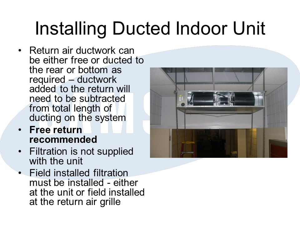 Installing Ducted Indoor Unit