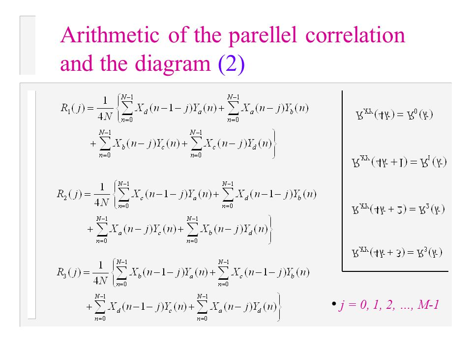 Arithmetic of the parellel correlation and the diagram (2)