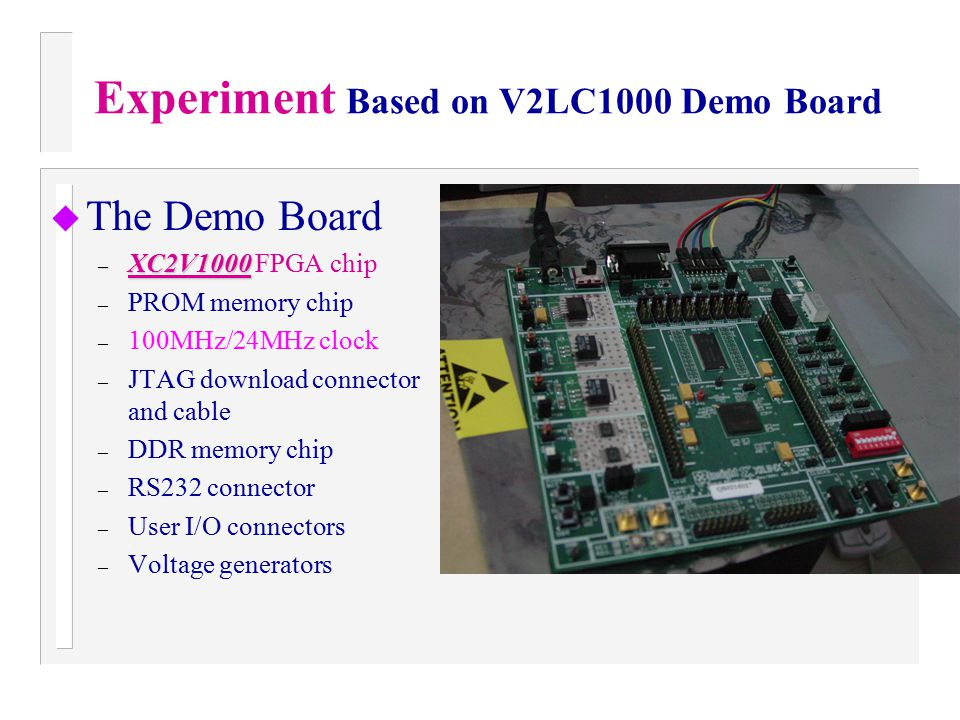 Experiment Based on V2LC1000 Demo Board
