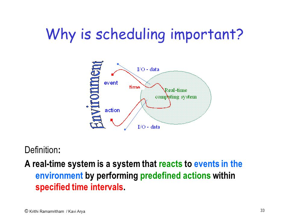 Why is scheduling important