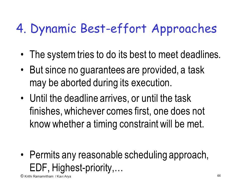 4. Dynamic Best-effort Approaches