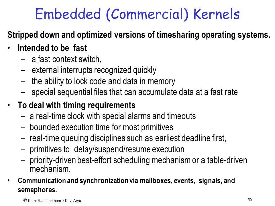 Embedded (Commercial) Kernels