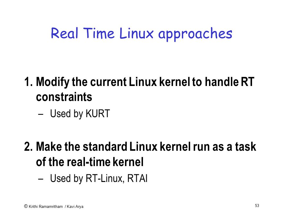 Real Time Linux approaches