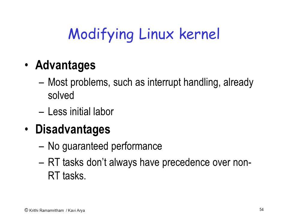 Modifying Linux kernel