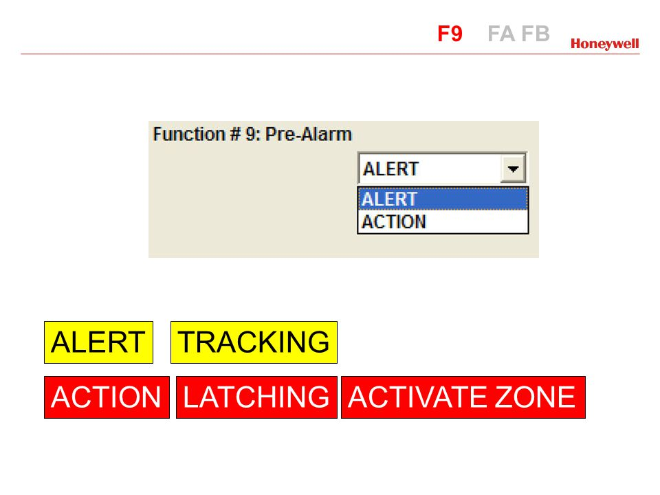 ALERT TRACKING ACTION LATCHING ACTIVATE ZONE