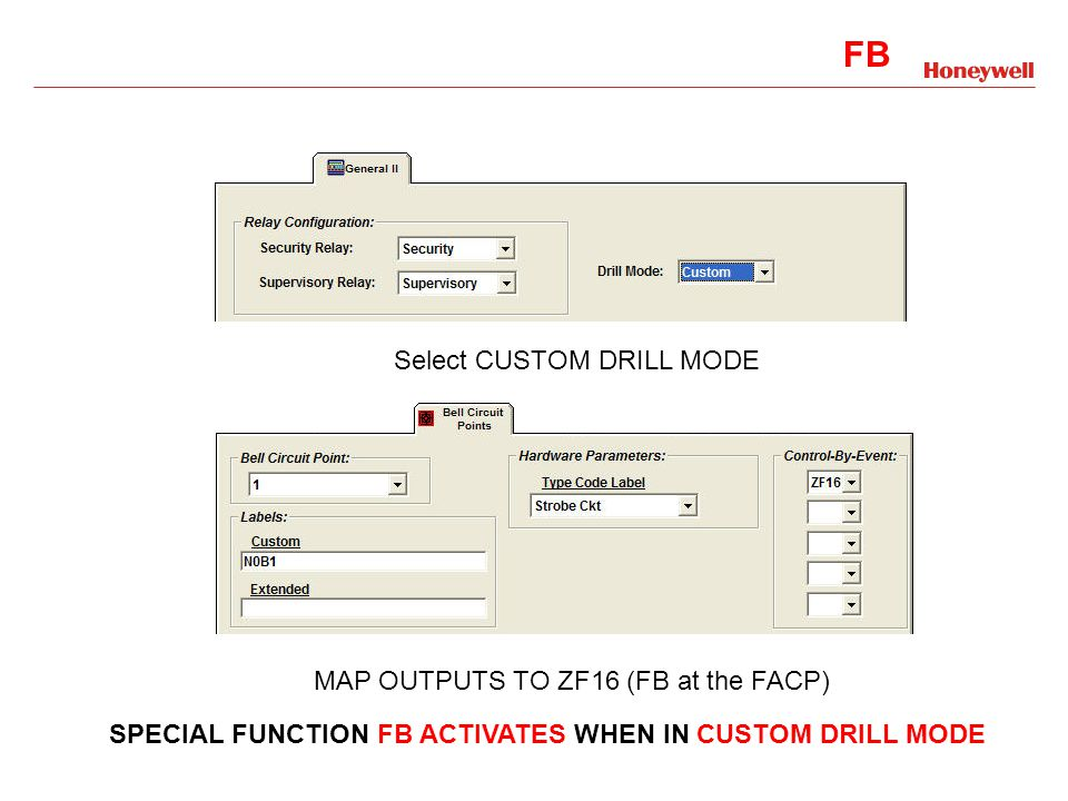 F0 F1, F2, F3, F4 F5/F6 F7 F8 F9 FA FB Select CUSTOM DRILL MODE