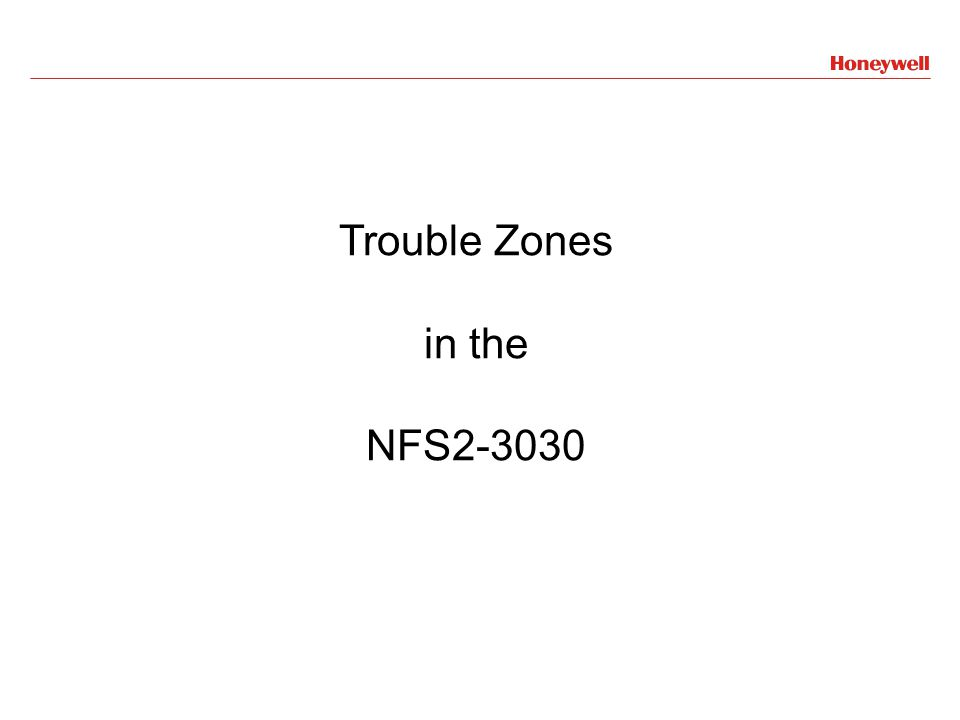 Trouble Zones in the NFS2-3030
