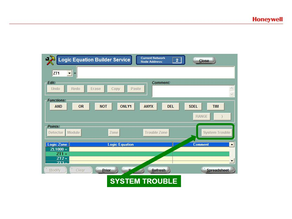 SYSTEM TROUBLE
