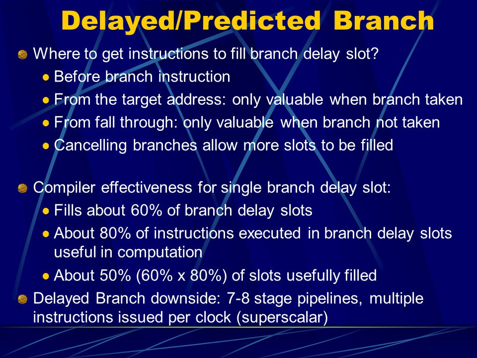 Delayed/Predicted Branch