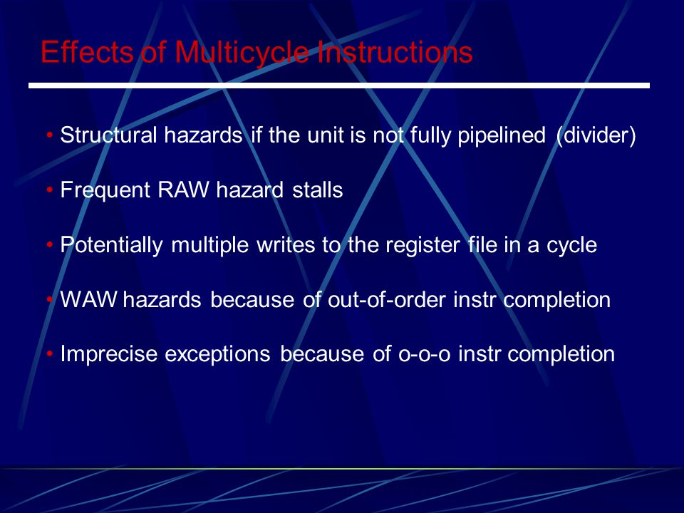 Effects of Multicycle Instructions