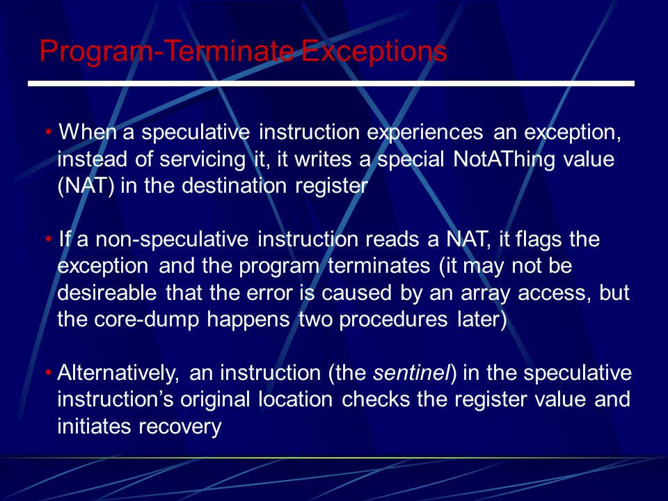 Program-Terminate Exceptions