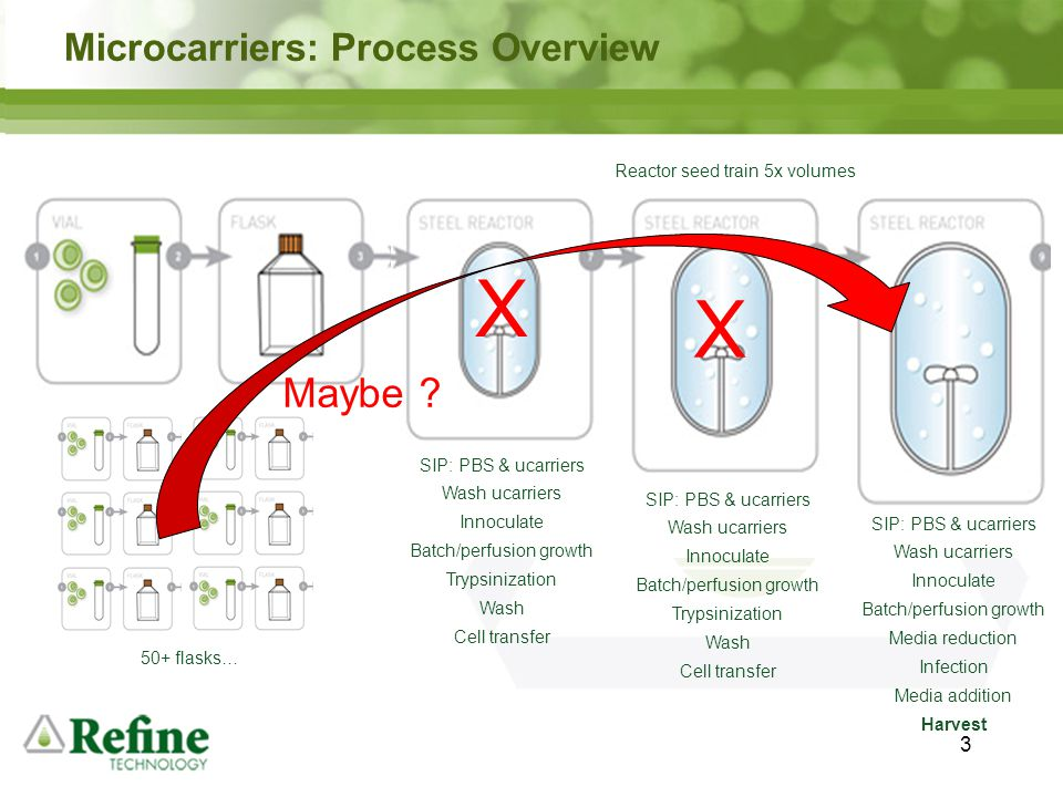 X X Maybe Microcarriers: Process Overview 3