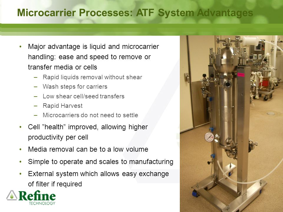Microcarrier Processes: ATF System Advantages