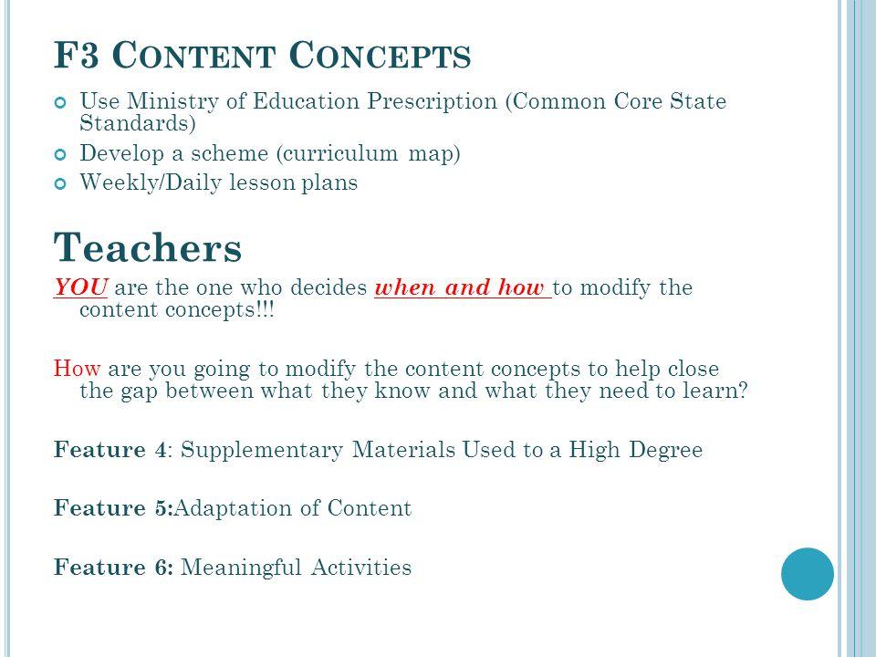 Teachers F3 Content Concepts