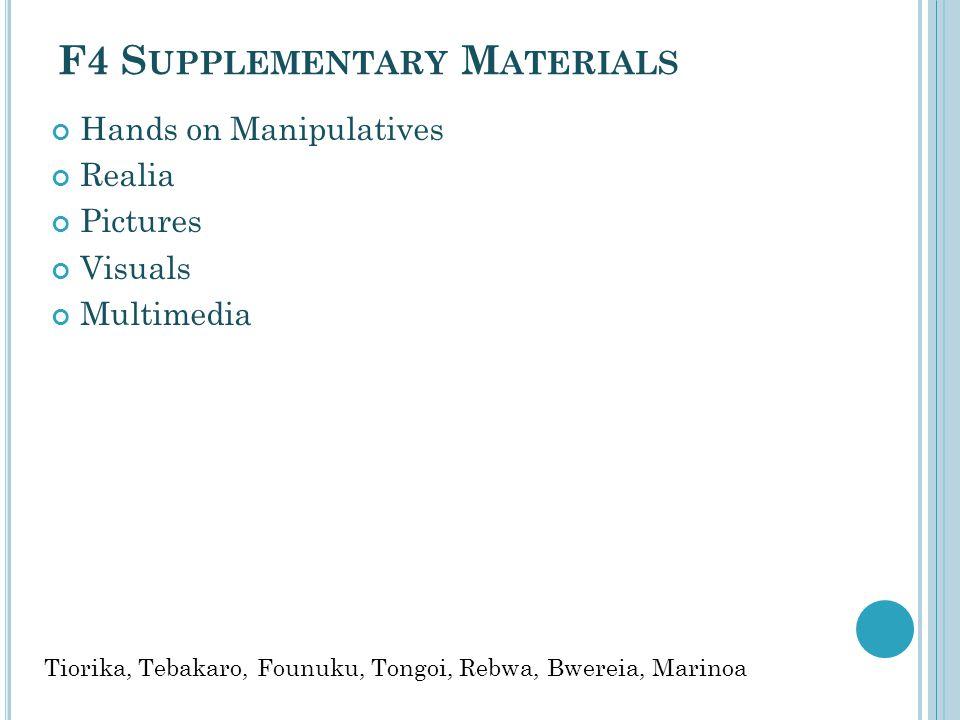 F4 Supplementary Materials