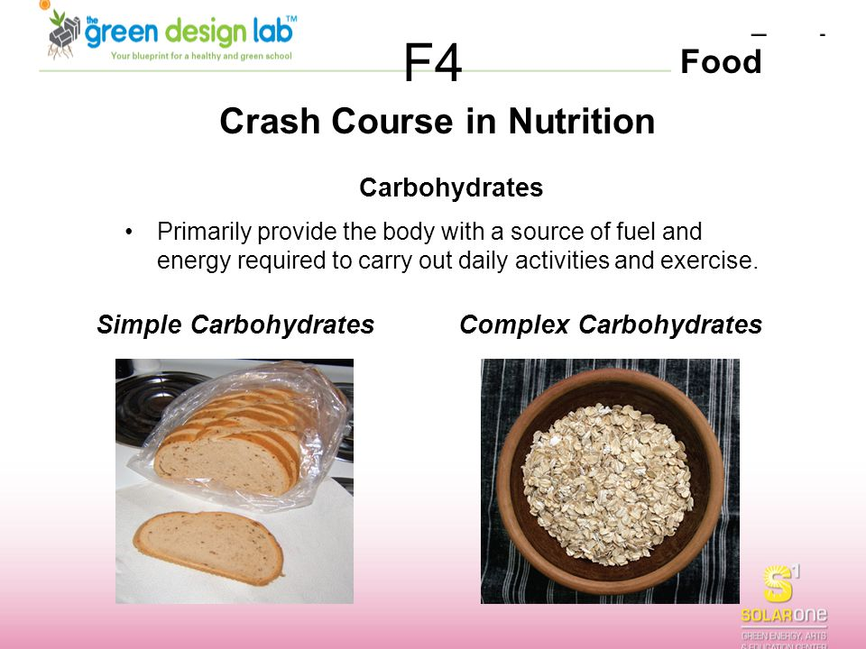 Crash Course in Nutrition Complex Carbohydrates