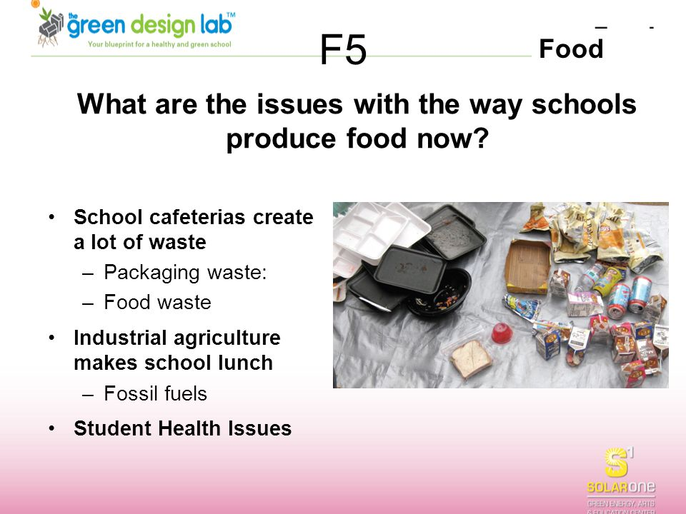 What are the issues with the way schools produce food now