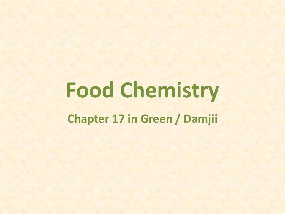 Chapter 17 in Green / Damjii