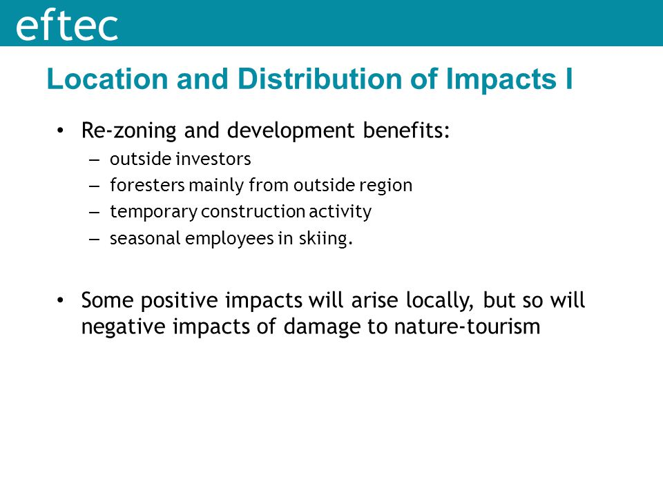 Location and Distribution of Impacts I