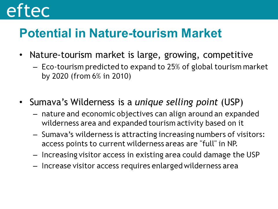 Potential in Nature-tourism Market